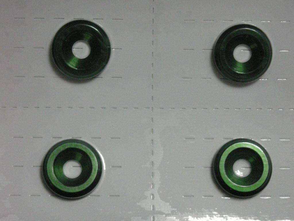 画像: 日正タイヤ カラーボルトリングS-TYPE ALPHARD文字入り