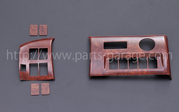 画像1: PGオリジナル ヴェルファイア20系 後期 DCスイッチパネル 6ピース ポプラ調茶木目
