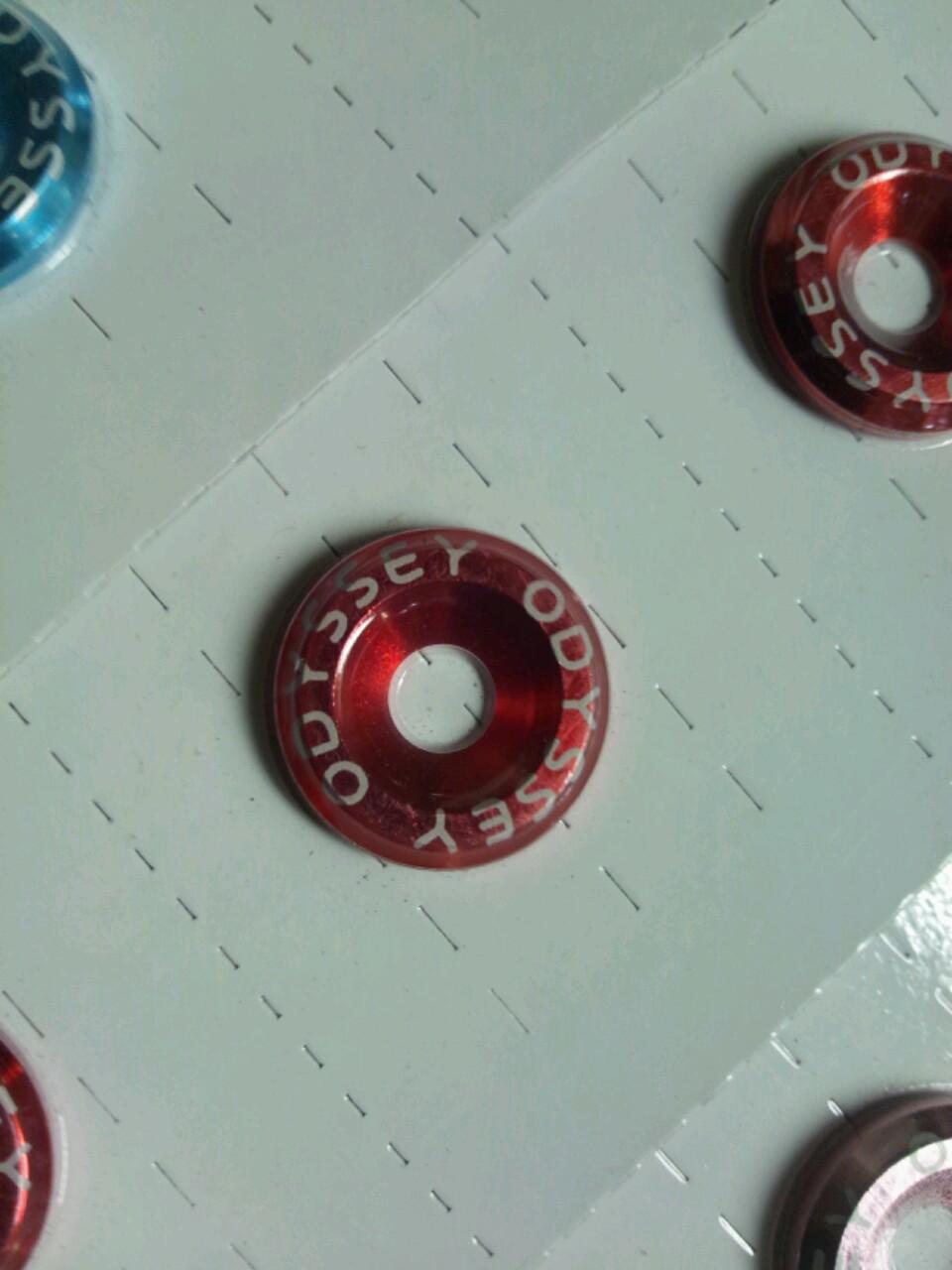 画像1: 日正タイヤ カラーボルトリングS-TYPE ODYSSEY文字入り
