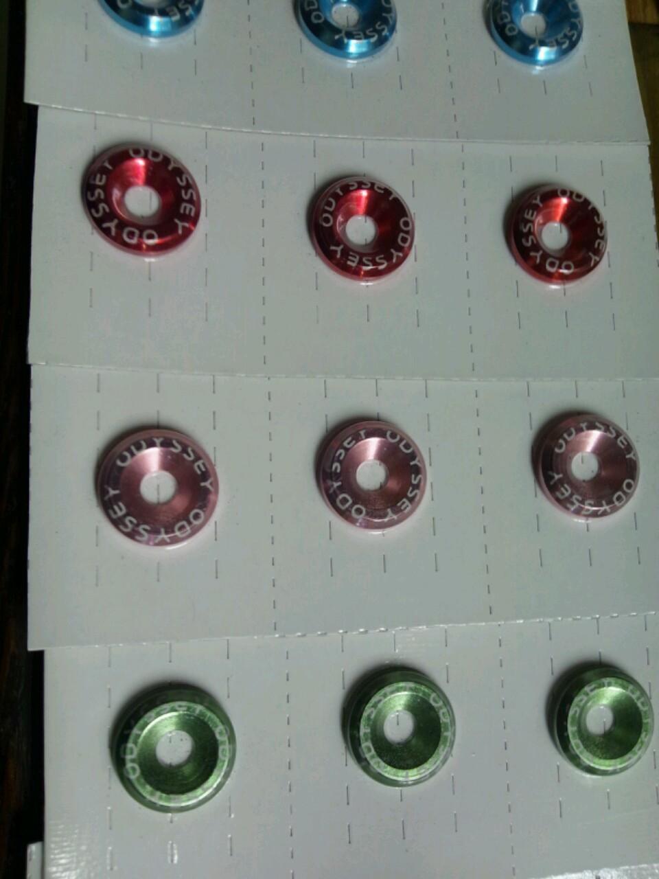 画像2: 日正タイヤ カラーボルトリングS-TYPE ODYSSEY文字入り